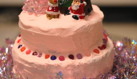 子どもと作る可愛い紙ねんどクリスマスケーキ♪